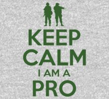 KEEP CALM I AM A PRO (green) by bomdesignz