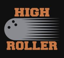 High Roller Bowling Dark T-Shirt by SportsT-Shirts