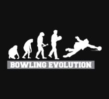 Evolution of Bowling Dark T-Shirt by SportsT-Shirts