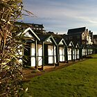 Beach huts by Elinor Barnes