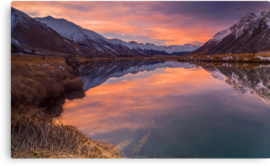 Ahuriri Valley sunset by Paul Mercer