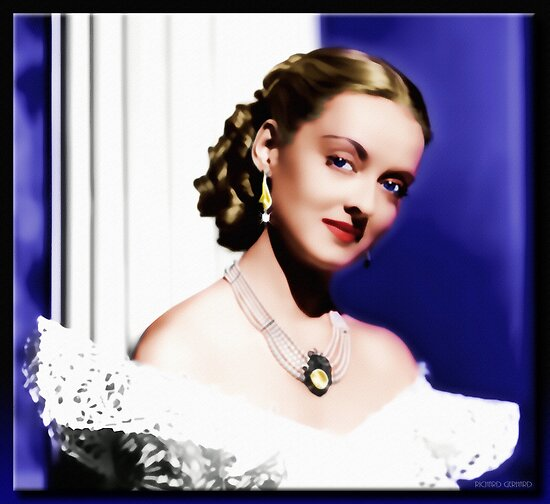 The Jezebel - Bette Davis in Oil by Richard  Gerhard