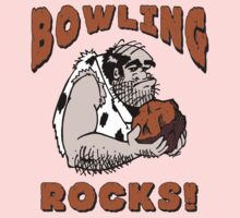 Bowling Rocks Bowling T-Shirt Kids Clothes