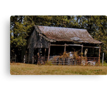 Old Timer's Barn (colored version) Canvas Print