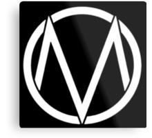 The Maine - Band  Logo White Metal Print