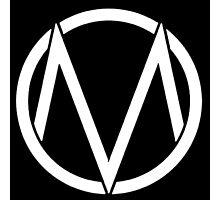 The Maine - Band  Logo White Photographic Print