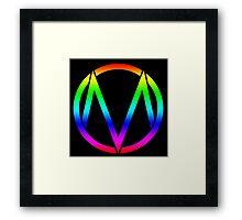 The Maine - Band  Logo Rainbow Framed Print