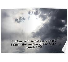 """""""Isaiah 35:2""""  by Carter L. Shepard Poster"""