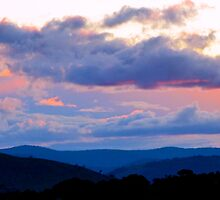 Sunset over the Valley by Alison Hill