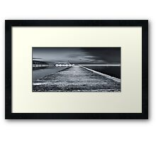 Newcastle Ocean Baths - The Path Framed Print