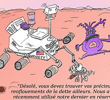 caricature du NASA Curiosity sur Mars by Binary-Options