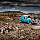 Blue Car Apocalypse by hebrideslight