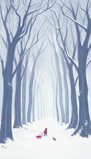A Snowy Walk in the Woods by Vivienne To
