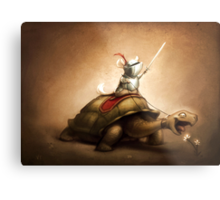 Knight of the Chinchilla Metal Print
