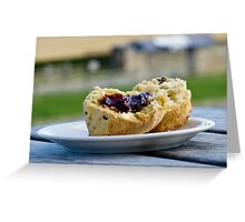 Jam And Scone Greeting Card