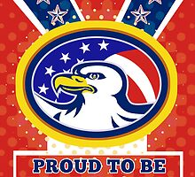 American Proud Eagle Independence Day Poster Greeting Card by patrimonio