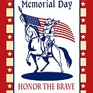 American Patriot Memorial Day Poster Greeting Card by patrimonio