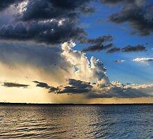 Clouds, Rays and Rain by Carolyn  Fletcher