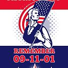 American Patriot Day Poster 911 Greeting Card by patrimonio