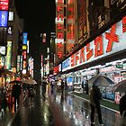 TOKYO, JAPAN - Rainy Lights by jsafford
