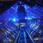 PARIS, FRANCE - Blue Eiffel Tower - Interior by jsafford