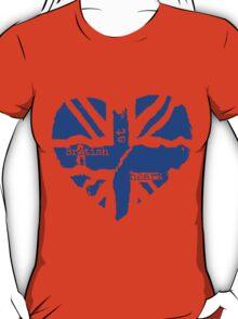 Brit At Heart (blue) T-Shirt