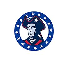 american patriot minuteman stars retro  by retrovectors
