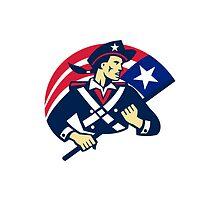 american patriot minuteman flag retro by retrovectors