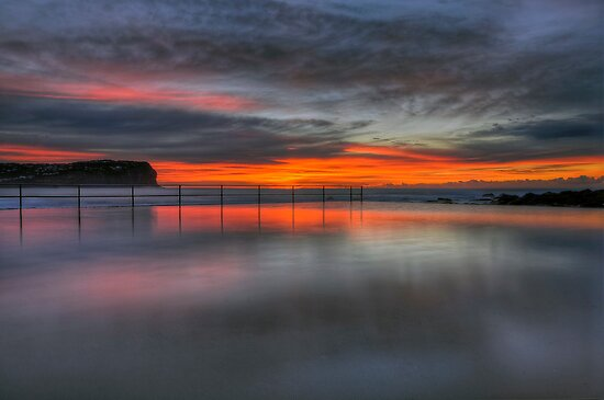 Reflections of a Sunrise. by Warren  Patten