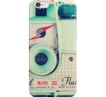 Film Mint Camera on a Colourful Retro Background  iPhone Case/Skin