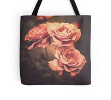 Three Pink Roses (Vintage Flower Photography) Tote Bag
