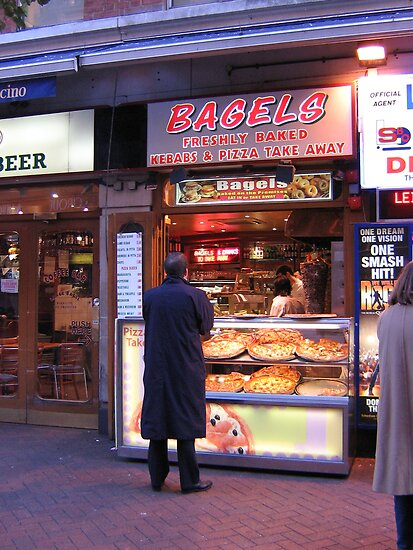 Bagel Kebab Stand, London by Carol Singer