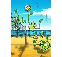 Olympic Volleyball Frog Photographic Print