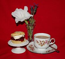 Warm Cherry & Sultana Scones & Tea by AnnDixon