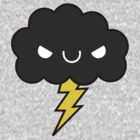 Adorable Kawaii Evil Happy Storm Cloud by hellohappy