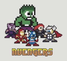 Avengers Assembled in 8 bit by jpappas