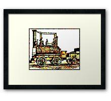 """Blücher"" a steam locomotive by George Stephenson 1814 Framed Print"