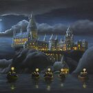 Hogwarts at Night by MysticMeadow