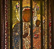 "Our Lady of Częstochowa  ""the Black Madonna""  as Queen and Protector of Poland . by © Andrzej Goszcz,M.D. Ph.D"