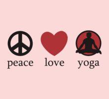 Peace Love Yoga T-Shirt Kids Clothes