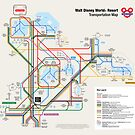 Walt Disney World Transportation as a Subway Map by Arthur de Wolf