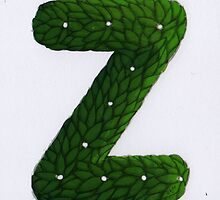"Topiary Lower Case ""Z""  by Donna Huntriss"