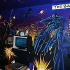 super-hero wall mural by imajica