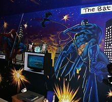 super-hero wall mural by alan  sloey