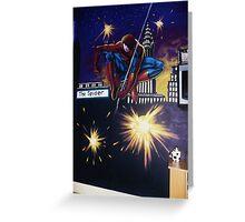 spiderman wall mural Greeting Card