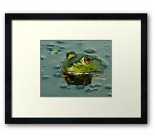 Bullfrog Oil Framed Print