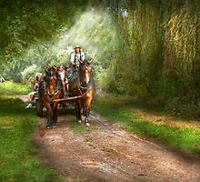 Country - Horse - The hay ride  by Mike  Savad