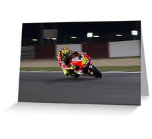 Valentino Rossi in Qatar 2011 Greeting Card