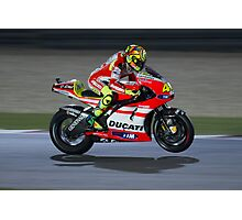 Valentino Rossi in Qatar 2011 Photographic Print