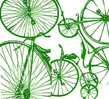 Green Bikes by Stacy Stranzl